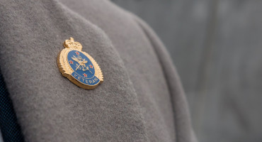 Veterans' Lapel Badge on a lapel